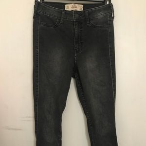 Hollister Black Super Skinny High Rise Jeans